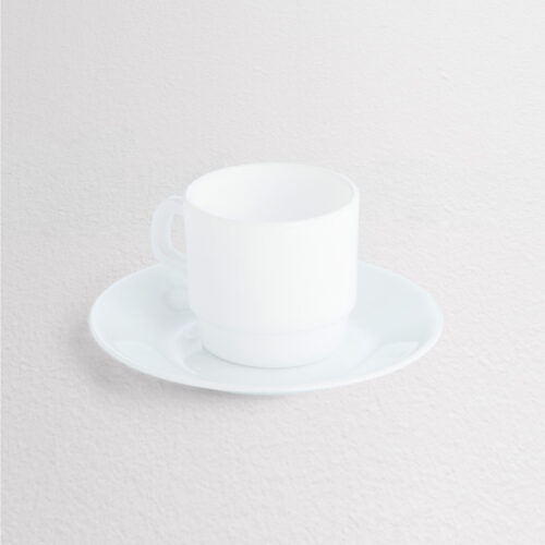 Corning Corelle Ice White Cup & Saucer