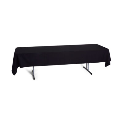 Black Poly - Trestle Cloth 8 - 10 Seater