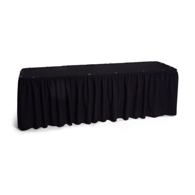 Table Skirt - Black 3m