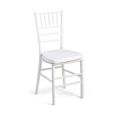 Chiavari Chair White - Padded Seat