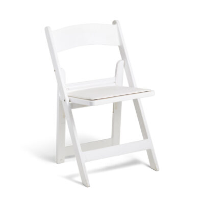Italian Folding Chair White - Padded Seat