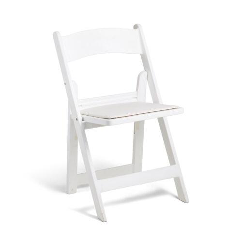 Italian Folding Chair White - Padded Seat